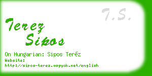 terez sipos business card